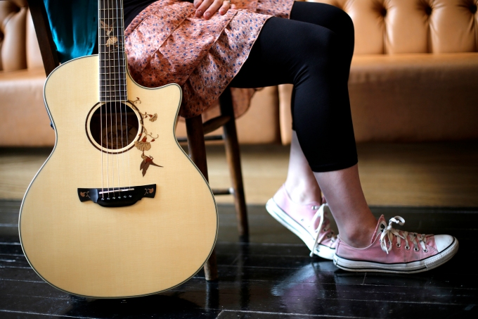 Behind the scenes at the Crafter Guitarsphotoshoot
