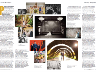Feature for brand new magazine, Inspired Bride